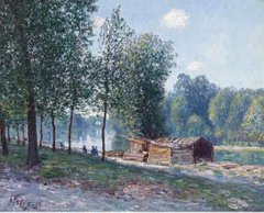 Cabins at the Bank of Loing, Morning Effect, 1896