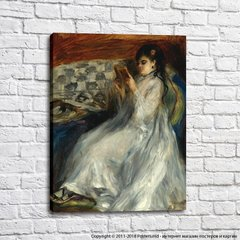 Pierre Auguste Renoir Young Woman in White Reading, 1873