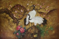 Aisan Cranes and Plum Tree