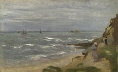 Seascape with Figures on Cliffs