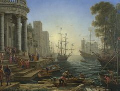 Seaport with the Embarkation of Saint Ursula