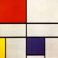 Composition with red, yellow and blue 1935 Mondrian