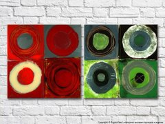 abstract-canvas-red-and-green-colored-circles