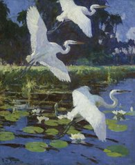 Herons and Lilies, 1934