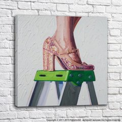 Strong and independent_stepladder with rhinestones