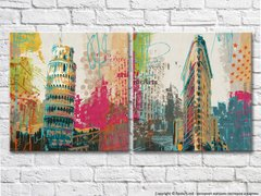 New York architectural sketches Leaning Tower of Pisa