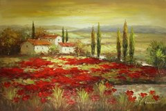 Tuscan Field of Poppies