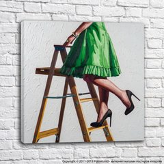 Strong and independent_stepladder in green