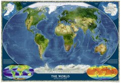 World Map - Satellite (2001)