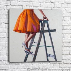 Strong and independent_stepladder in orange