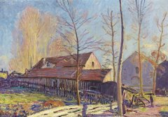 The Mills of Moret, Frost, Evening Effect, 1888