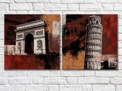 Building Big Ben Tower of Pisa Arc de Triomphe_1